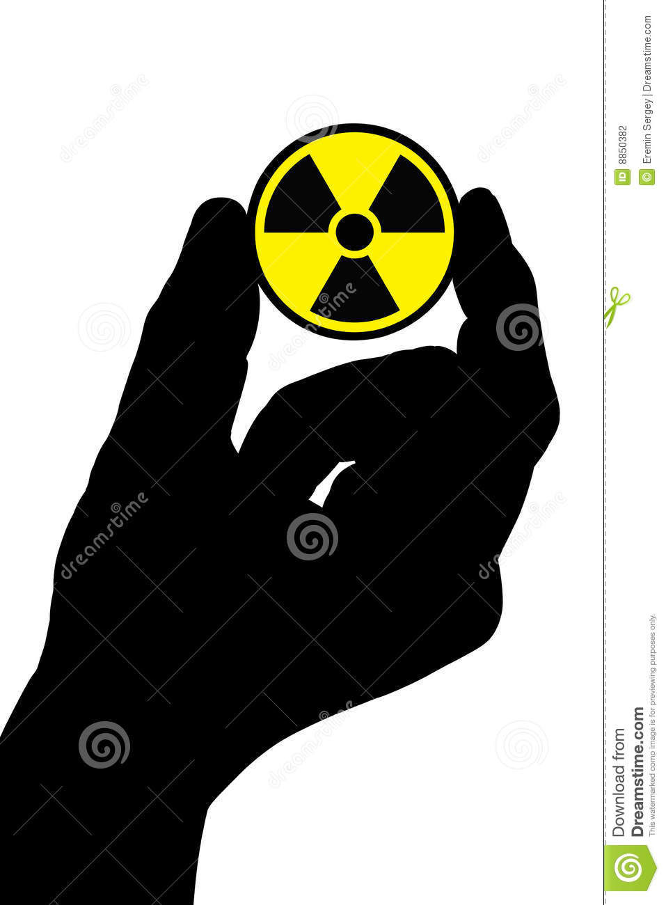 Hand with radiation sign