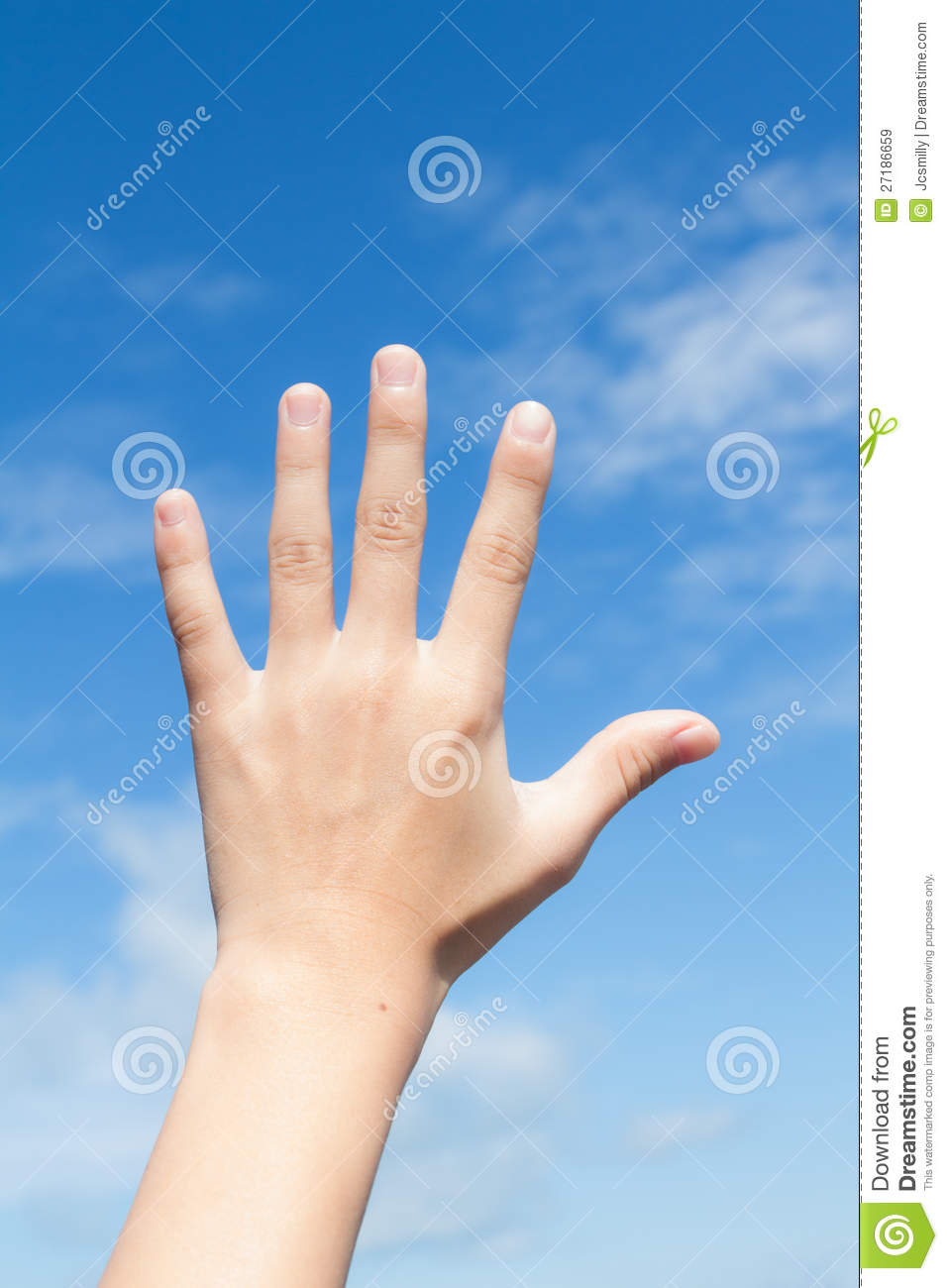 Hand Reach To The Blue Sky Stock Image  Image Of Powerful