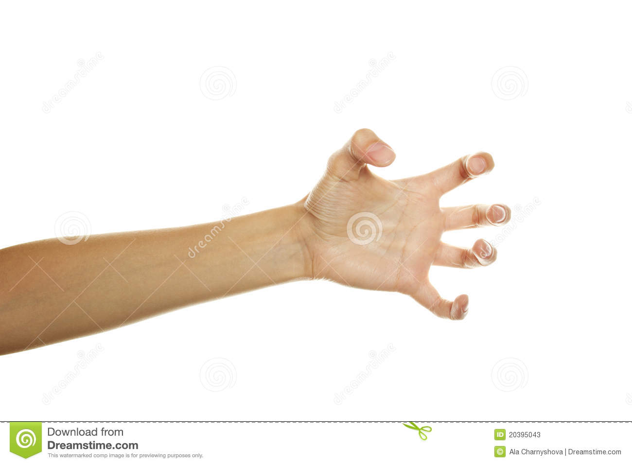 Hand ready to scratch stock image. Image of feminine ...