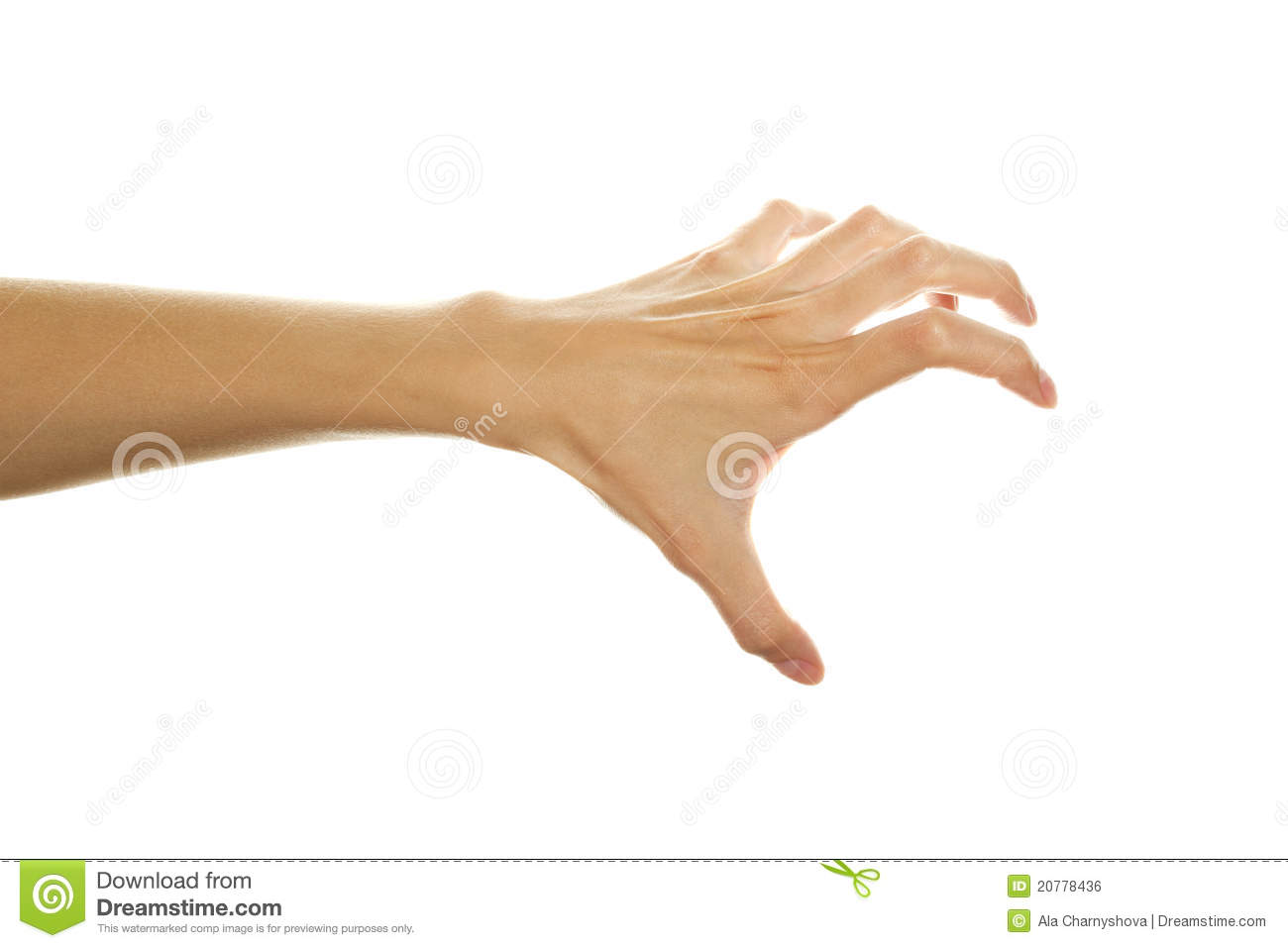 Hand Ready To Scratch Royalty Free Stock Image - Image ...