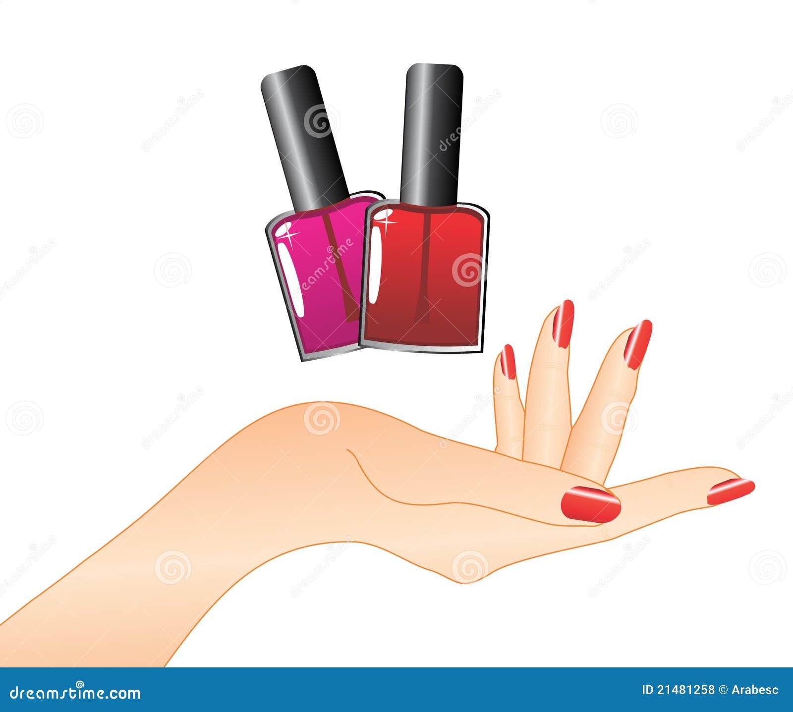 top logo design nail salon logo design hand with red nail polish royalty free stock - Nail Salon Logo Design Ideas