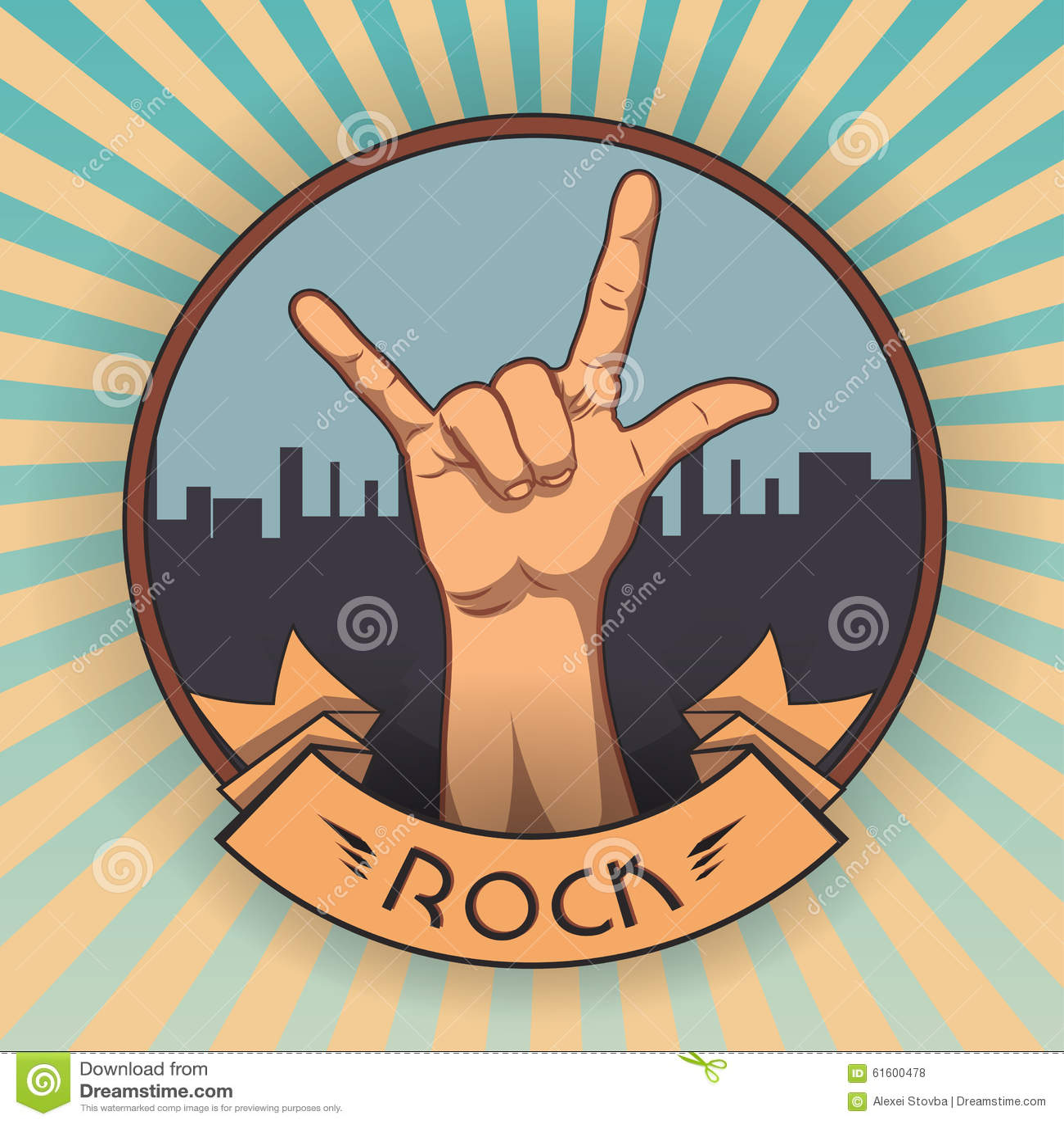 Hand in rock n roll sign retro rock poster illustration 61600478 hand in rock n roll sign retro rock poster illustration 61600478 megapixl buycottarizona