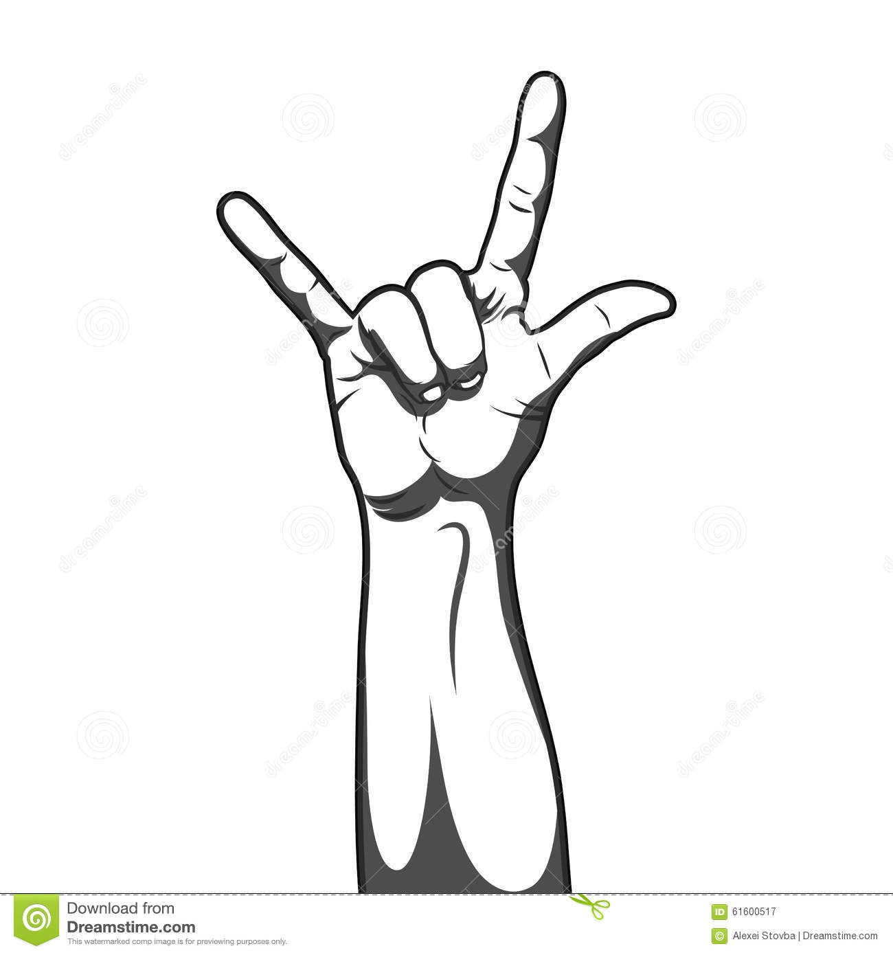 Hand in rock and roll sign stock vector illustration of gesture hand in rock and roll sign buycottarizona
