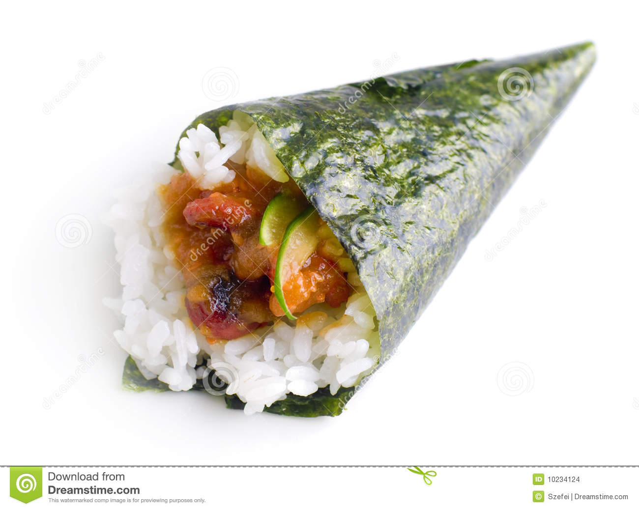 Hand Roll Temaki Sushi Stock Images - Image: 10234124