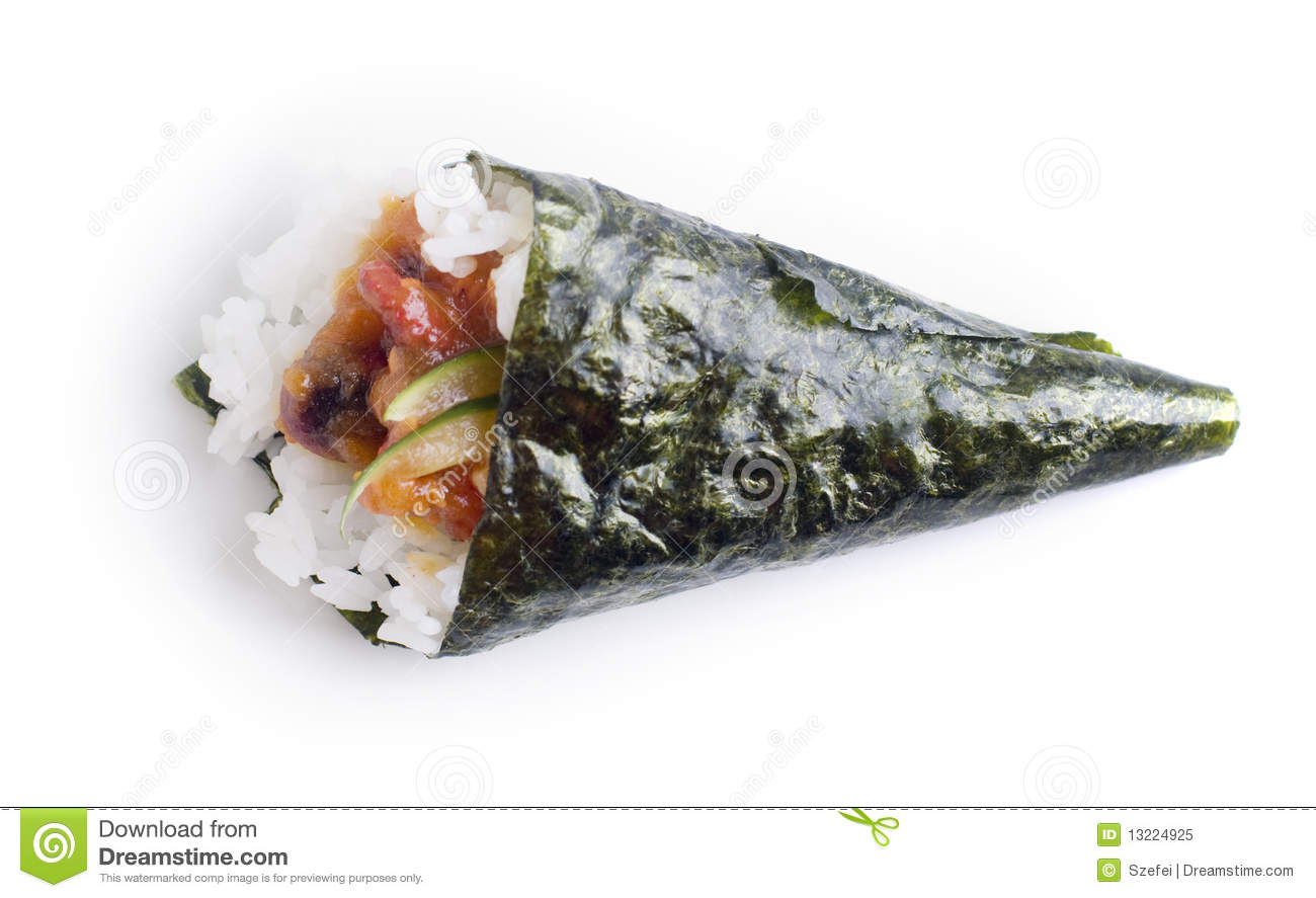 Hand Roll Temaki Sushi Royalty Free Stock Photo - Image: 13224925