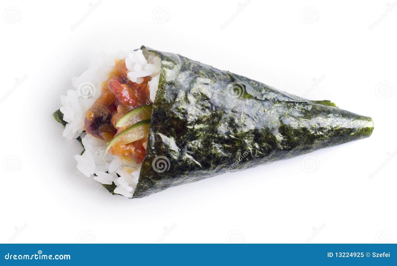 Hand Roll Temaki Sushi Royalty Free Stock Photo - Image: 13224925