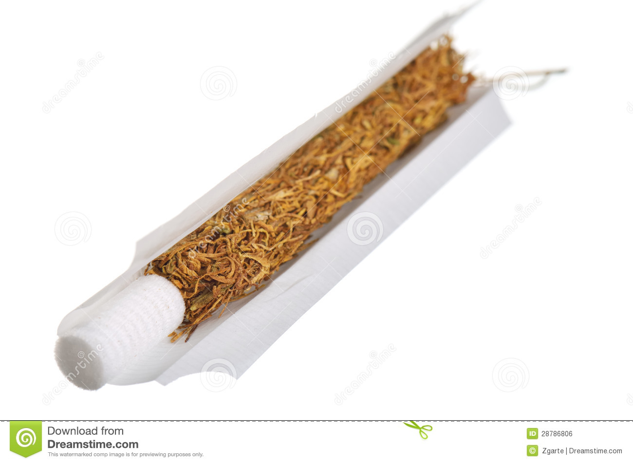Hand Rolled Cigarette Stock Photo Image Of Natural