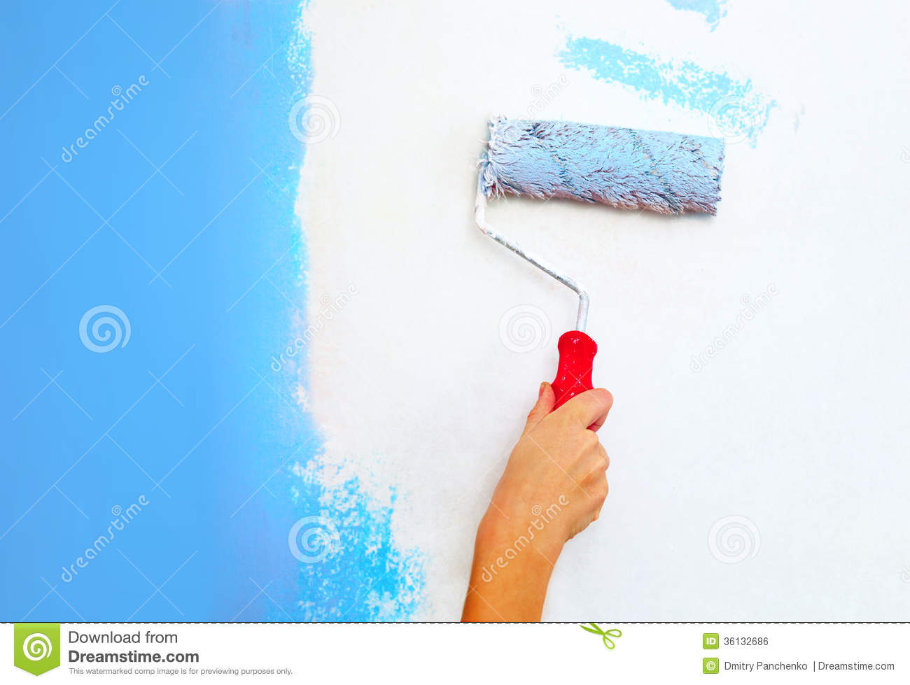 Paint Wall With Brush Or Roller