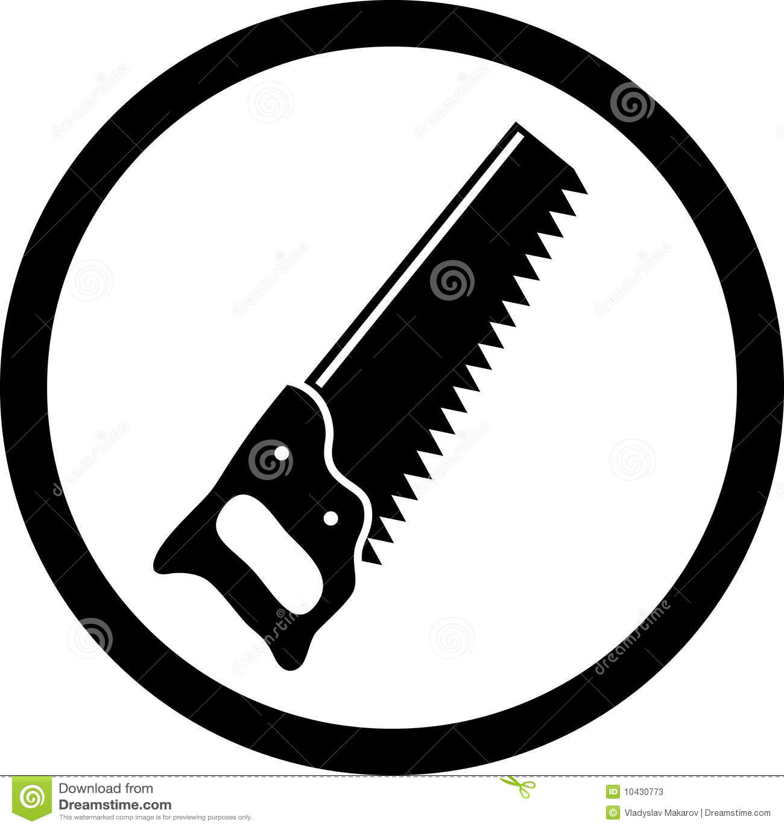 Hand saw stock vector. Illustration of line, design ...