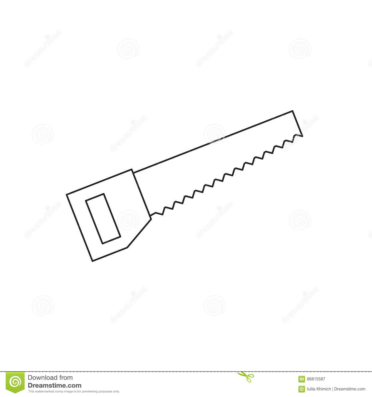 hand saw line icon stock vector illustration of graphic 86815587