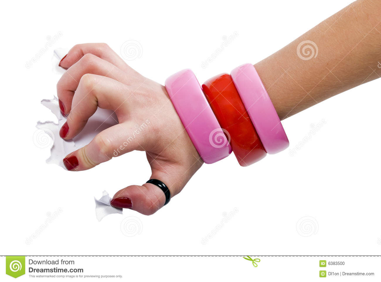 Hand Scratching Paper Stock Photo - Image: 6383500