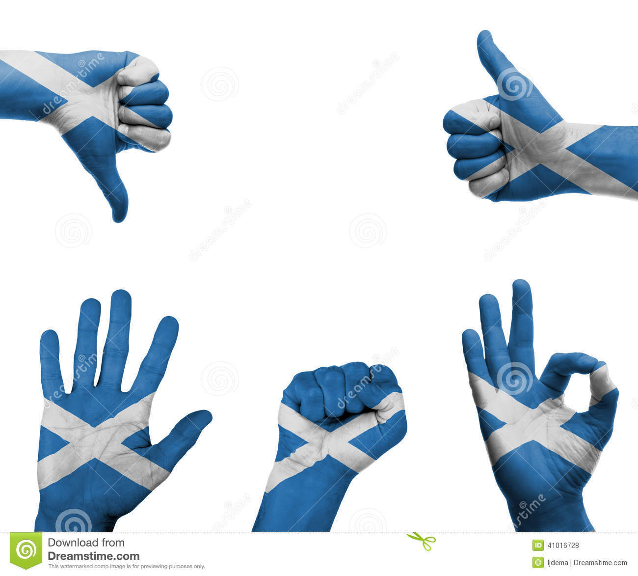 hand set with the flag of scotland stock photo image 41016728