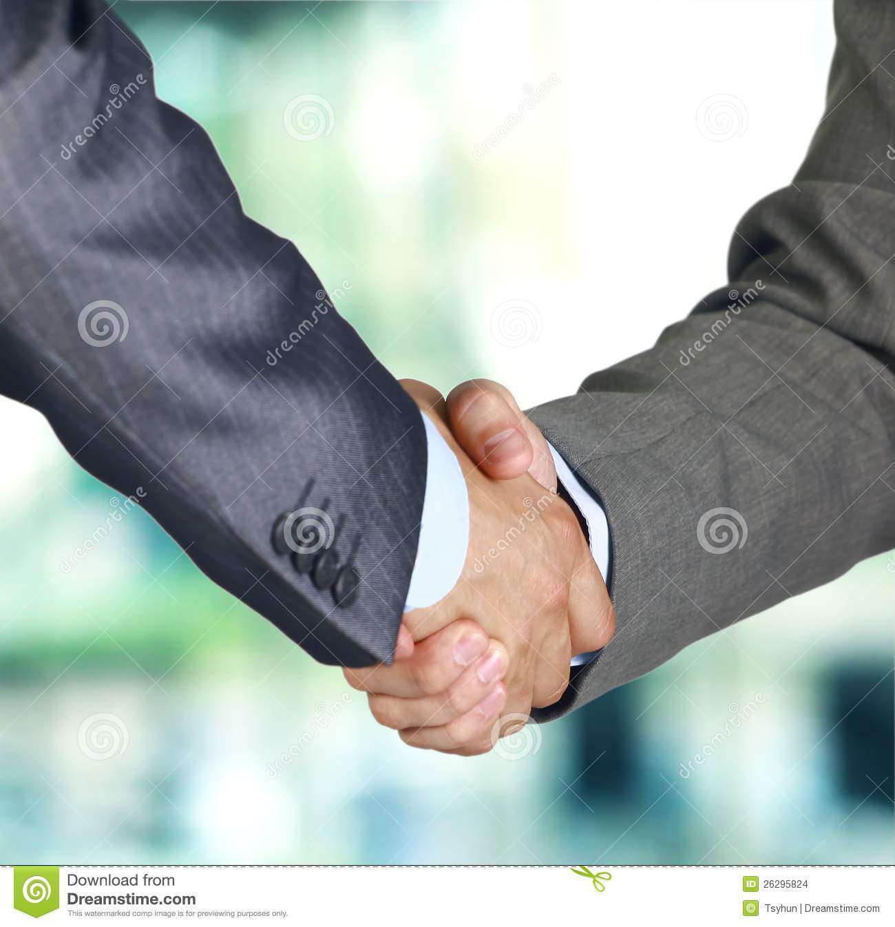 Hand shake between two colleagues
