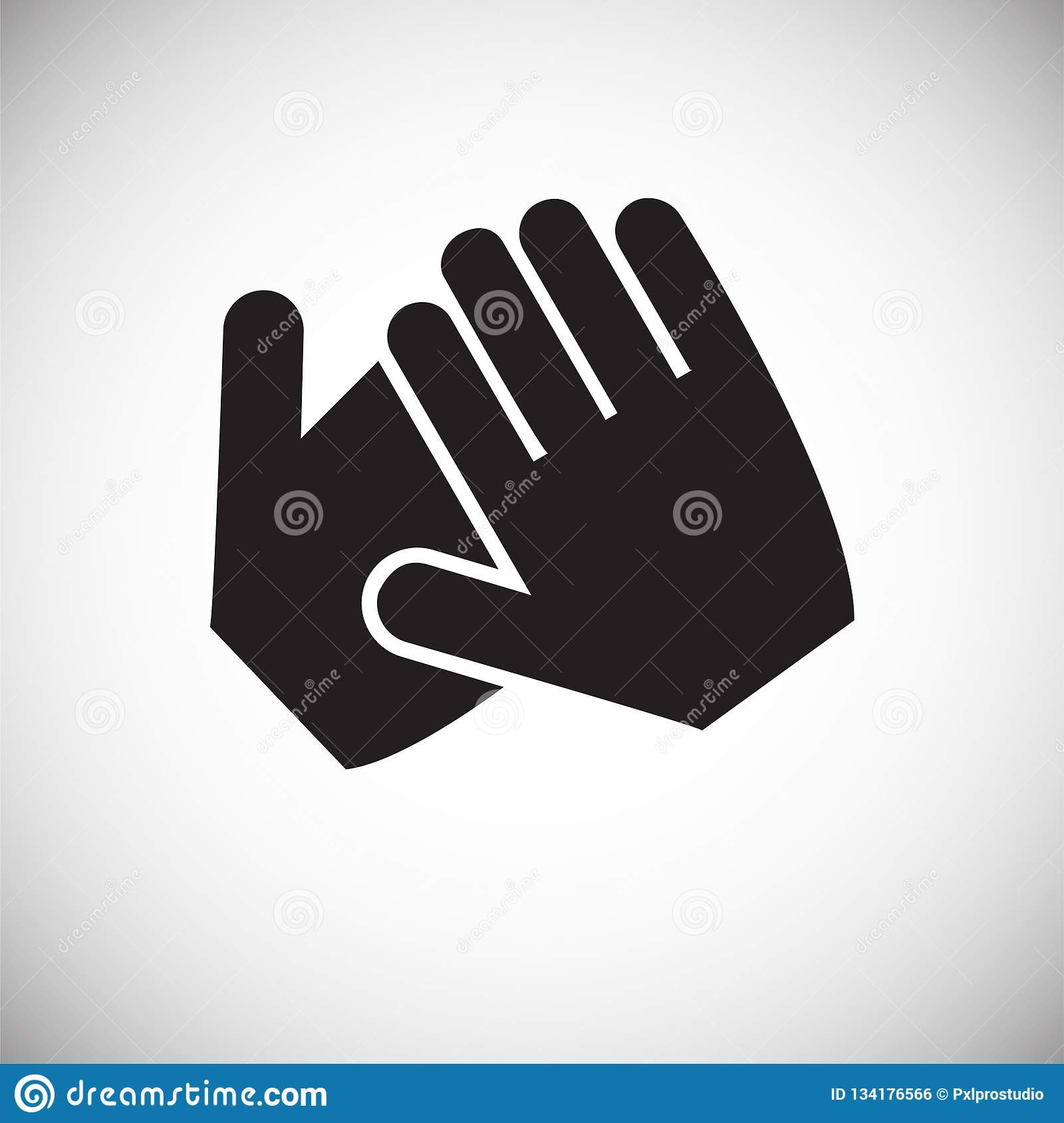 Hand shaking icon on white background for graphic and web design, Modern simple vector sign. Internet concept. Trendy symbol for