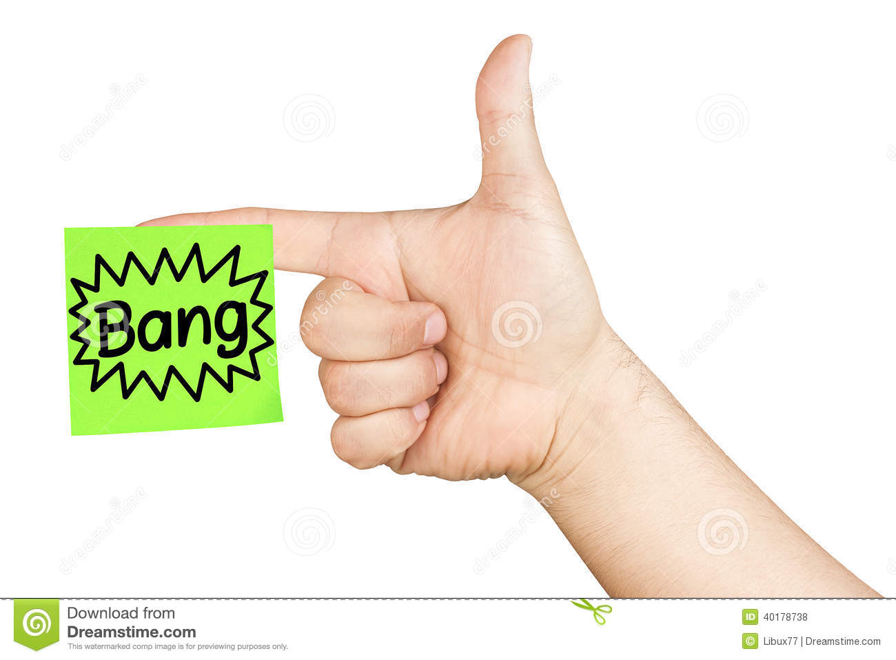 Hand shooting finger gun post it bang isolated stock photo image royalty free stock photo biocorpaavc Images
