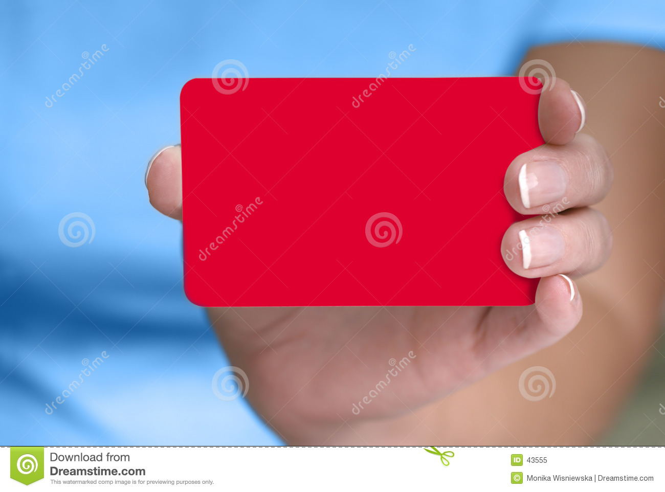 Hand Showing Blank Card