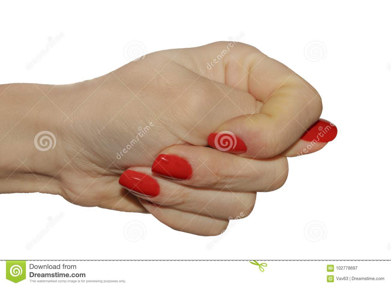 Hand showing fig