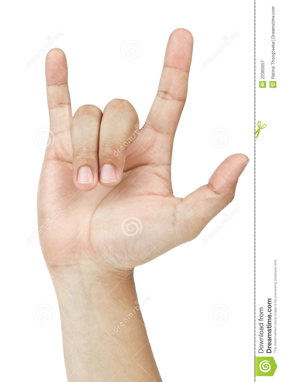 Hand Sign I Love You Stock Image Image Of Finger Communicate