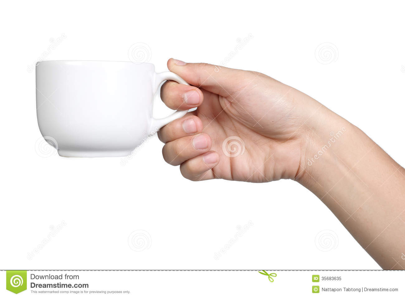 hand sign posture hold coffee cup isolated stock image image of