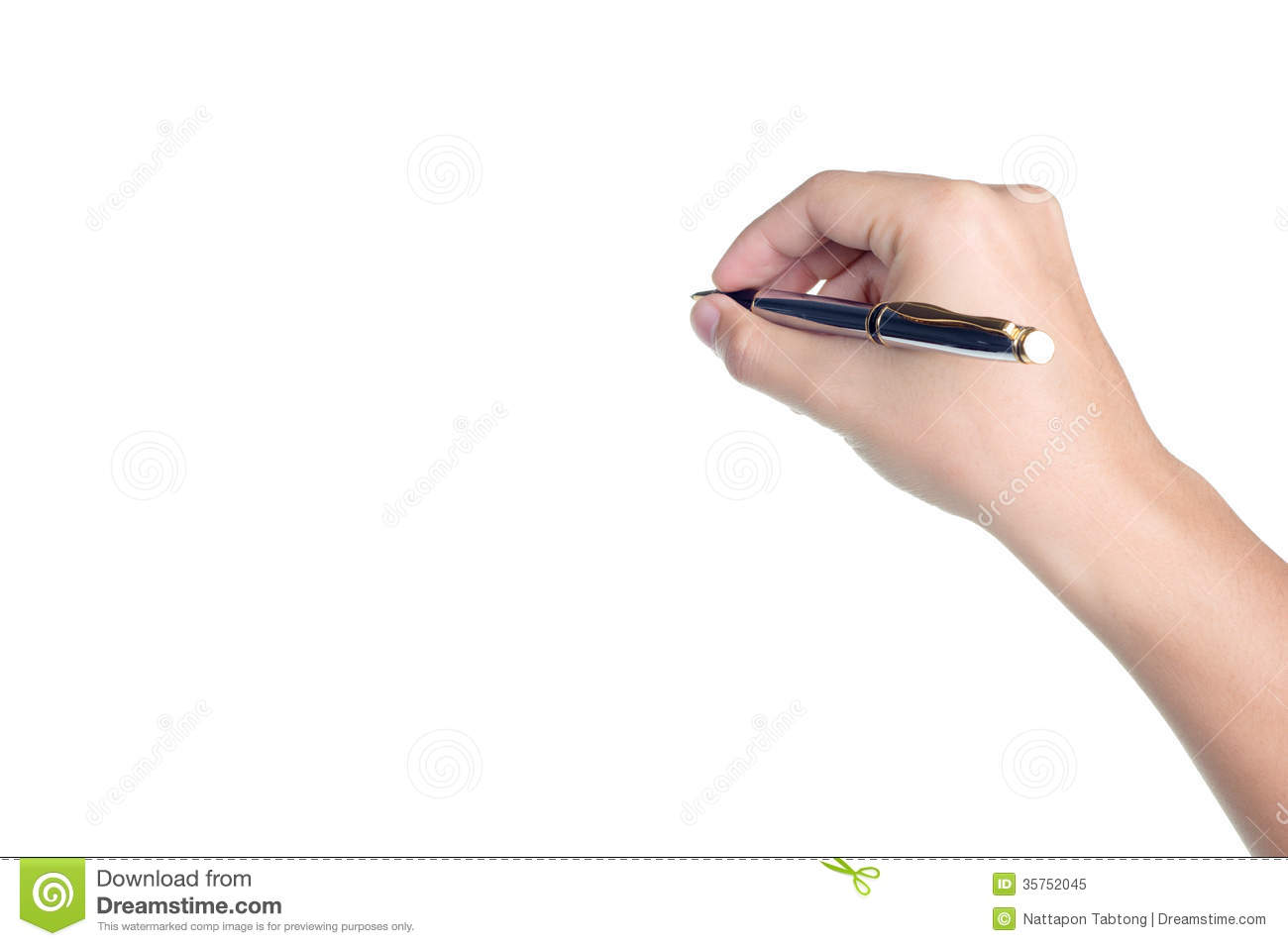 Royalty Free Stock Photo Hand Sign Posture Hold Pen Write Isolated Pick Image35752045 on What To Write In Thank You Cards Writing