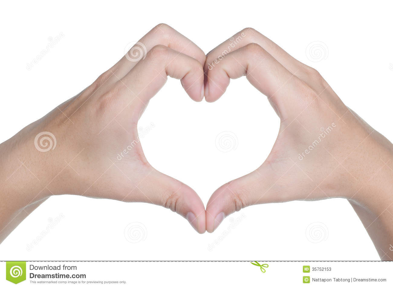 Hand Sign Posture Love Icon Isolated Stock Photos - Image: 35752153
