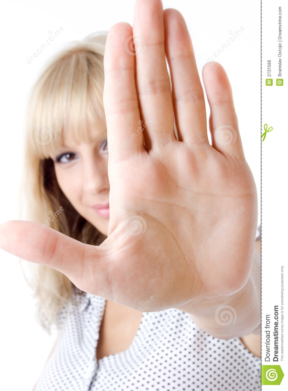 Hand signal to stop