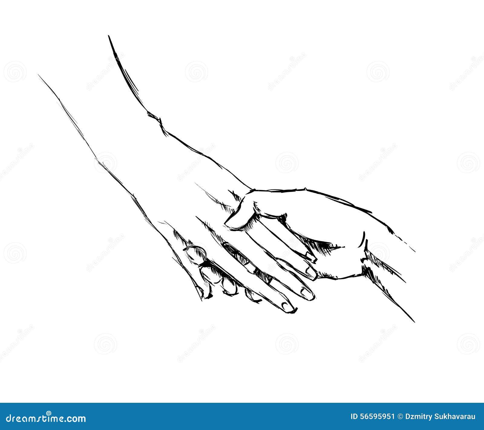 Uncategorized Holding Hands Sketch hand sketch holding hands stock illustration image 56595951 royalty free download holding