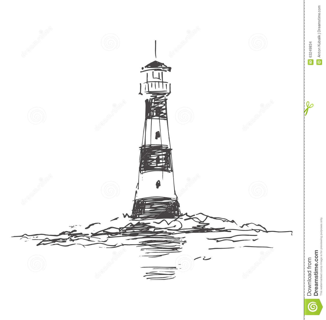 Stock Illustration Boat Sea Hand Drawn Doodles Set Sailboats Ocean Life Other Related Objects Image51678498 together with Collectionsdwn Ship Wheel Drawing besides Phare 19904071 likewise Blog Post moreover Diy Lighthouses Nautical. on lighthouse plans and drawings