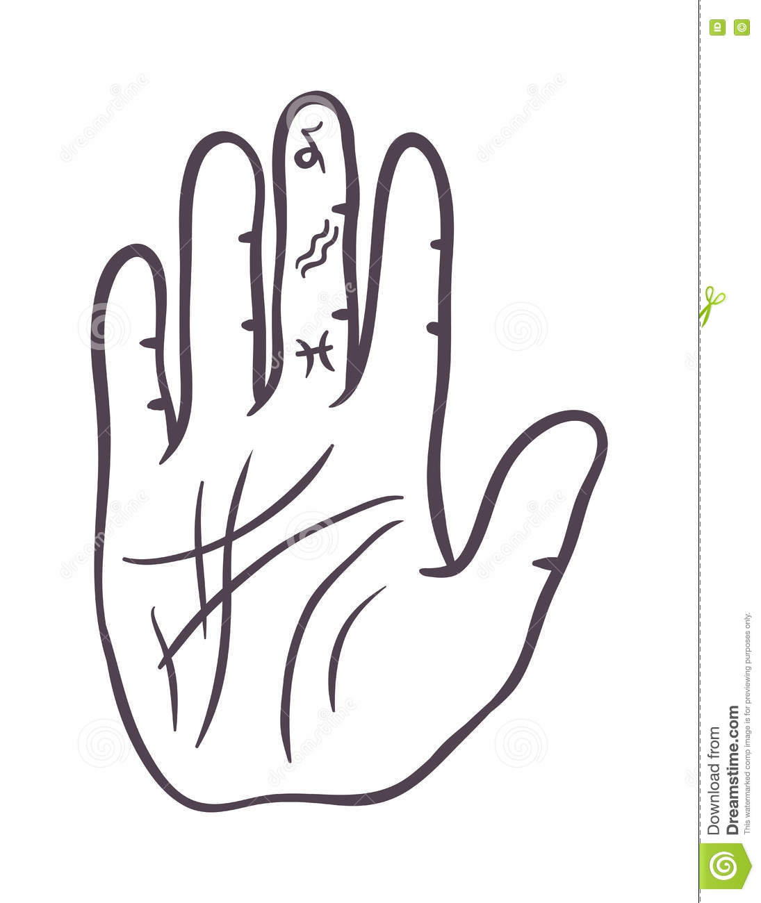 Pencil drawing fist hand sketch gesture vector illustration hand sketch human drawing creativity concept palm symbol divination life line hand sketch