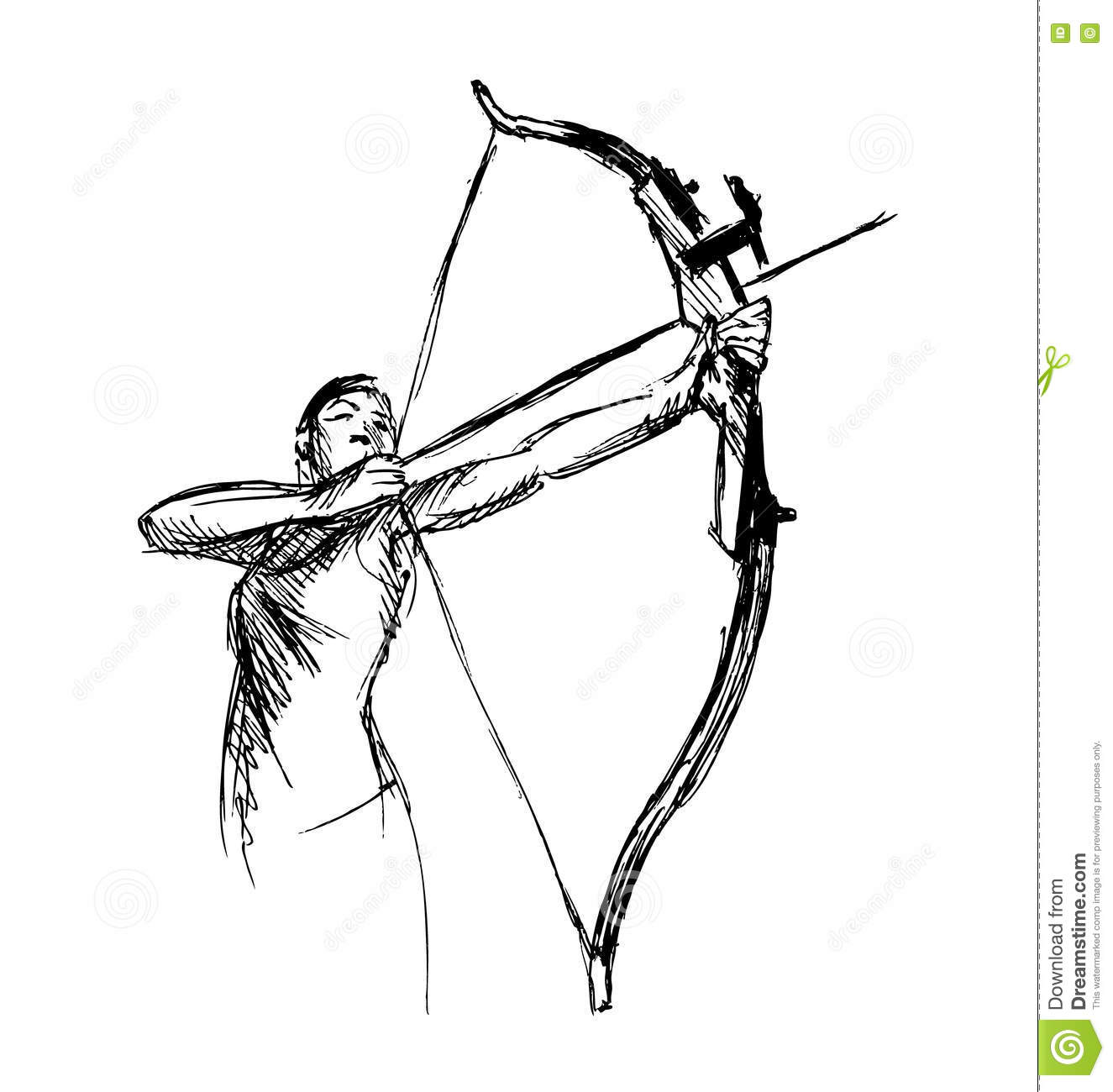 Bow And Arrow Pencil Drawing