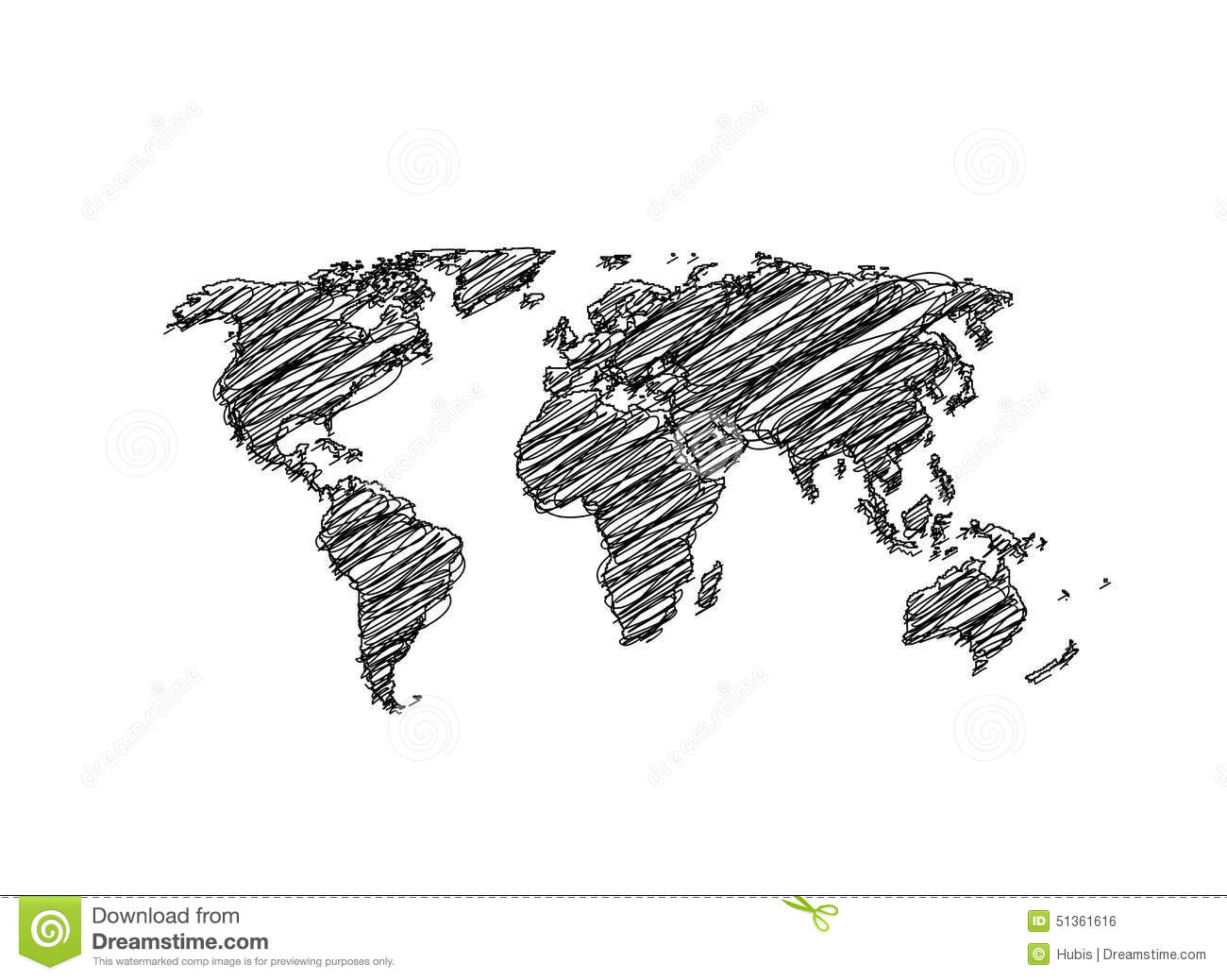 Hand sketch world map globe stock vector illustration of draw download comp gumiabroncs Images
