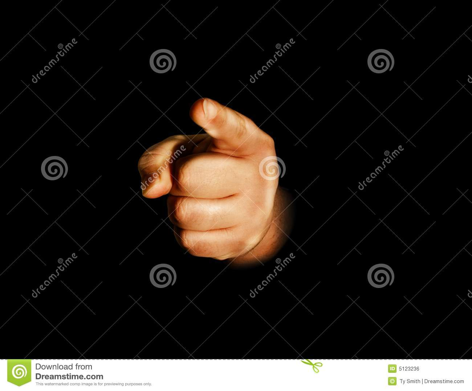 Hand som pekar dig