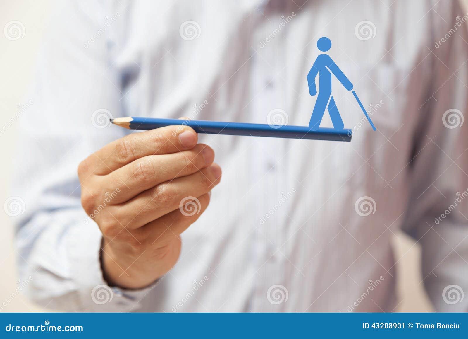 Download Hand Som Rymmer En Blå Blyertspenna Med Det Mänskliga Diagramet På Det Fotografering för Bildbyråer - Bild av partnerskap, tillväxt: 43208901