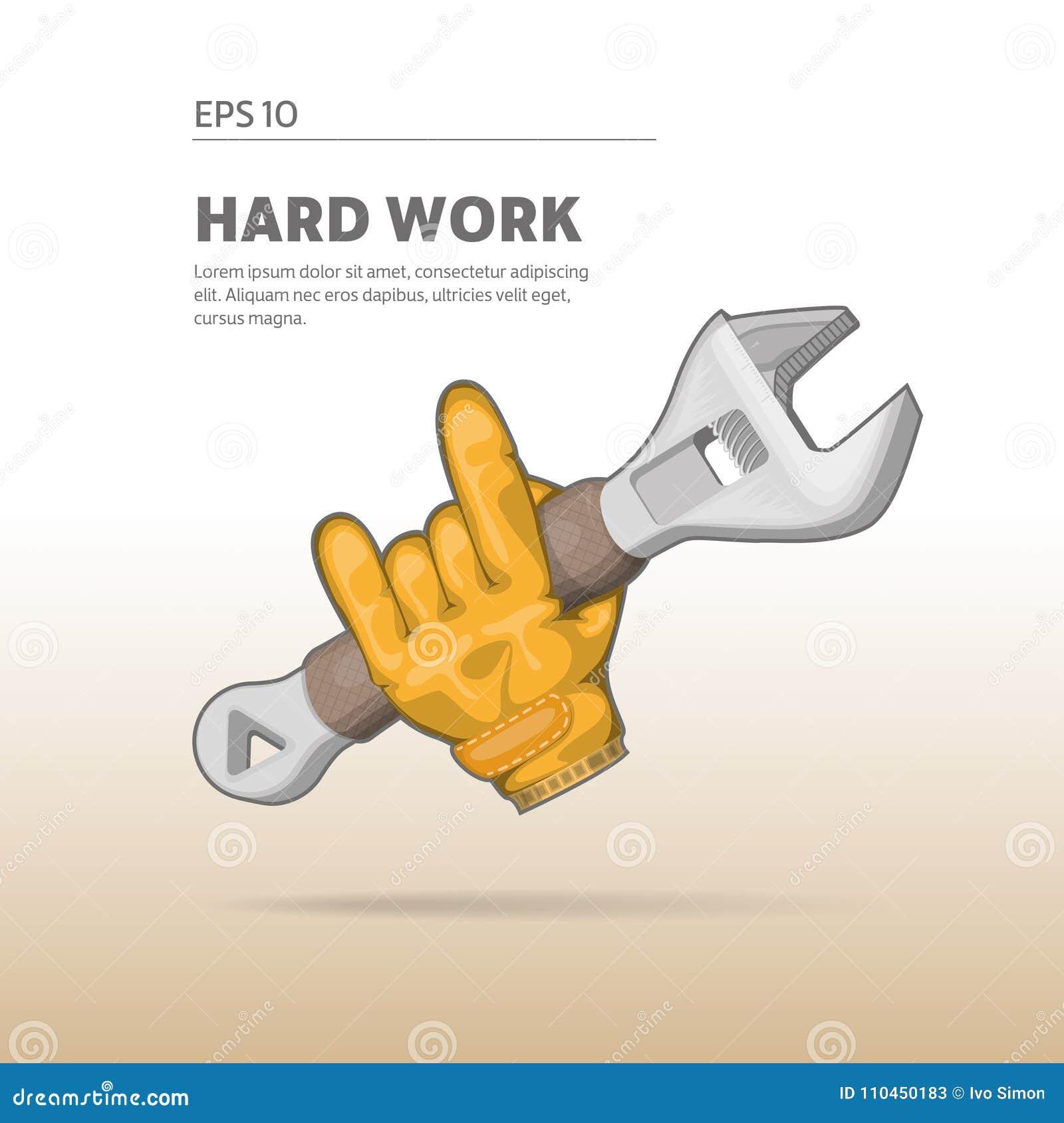 Hand som rymmer en justerbar skiftnyckel