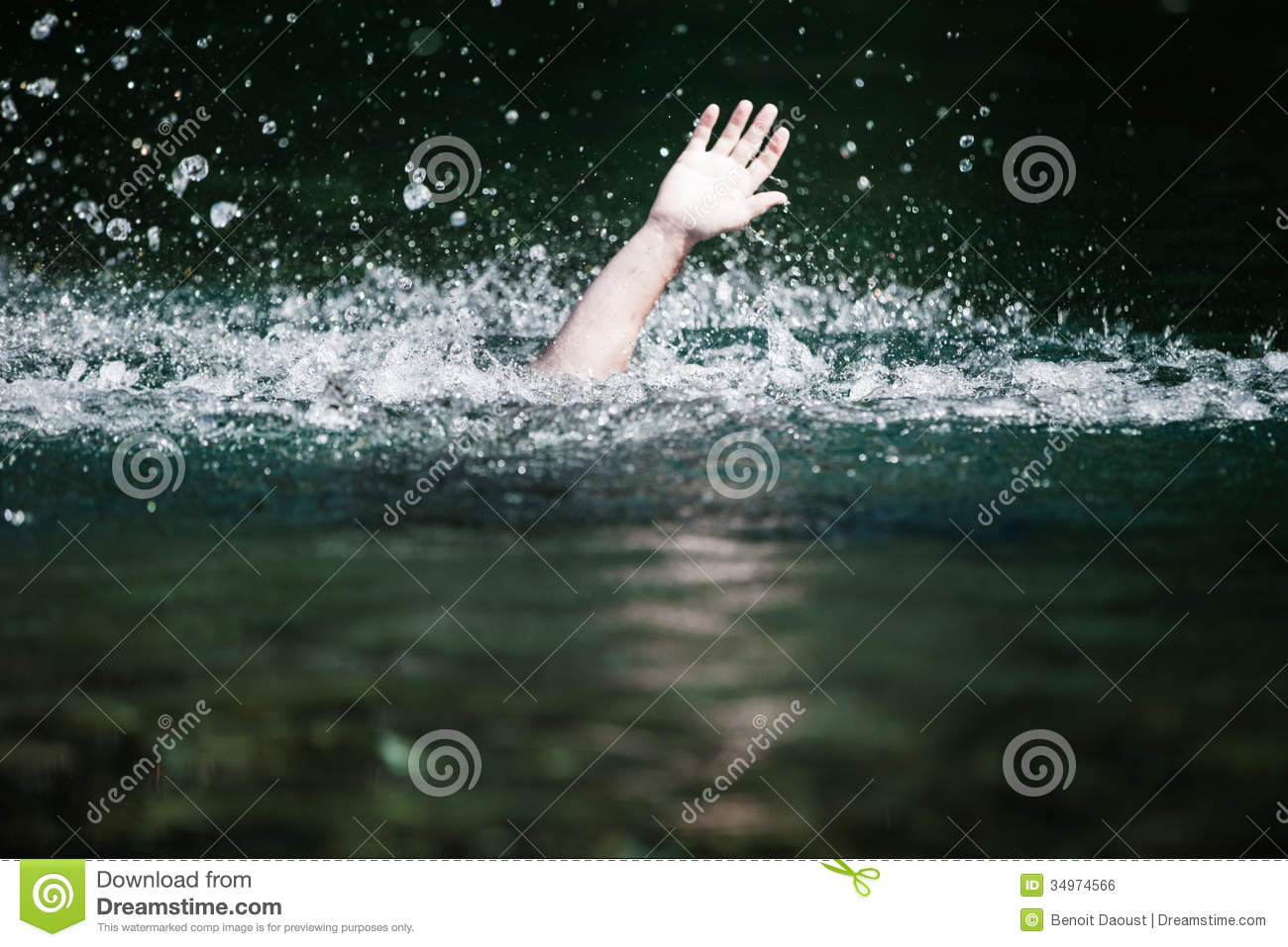 Hand Of Someone Drowning And In Need Of Help Royalty Free ...