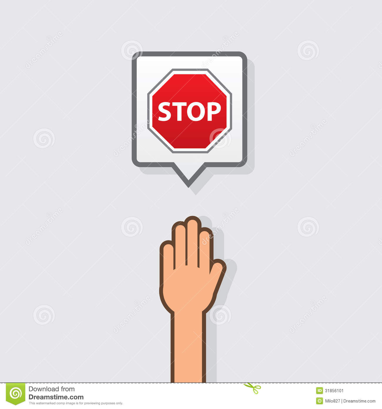 Hand Stop Sign Stock Image - Image: 31856101
