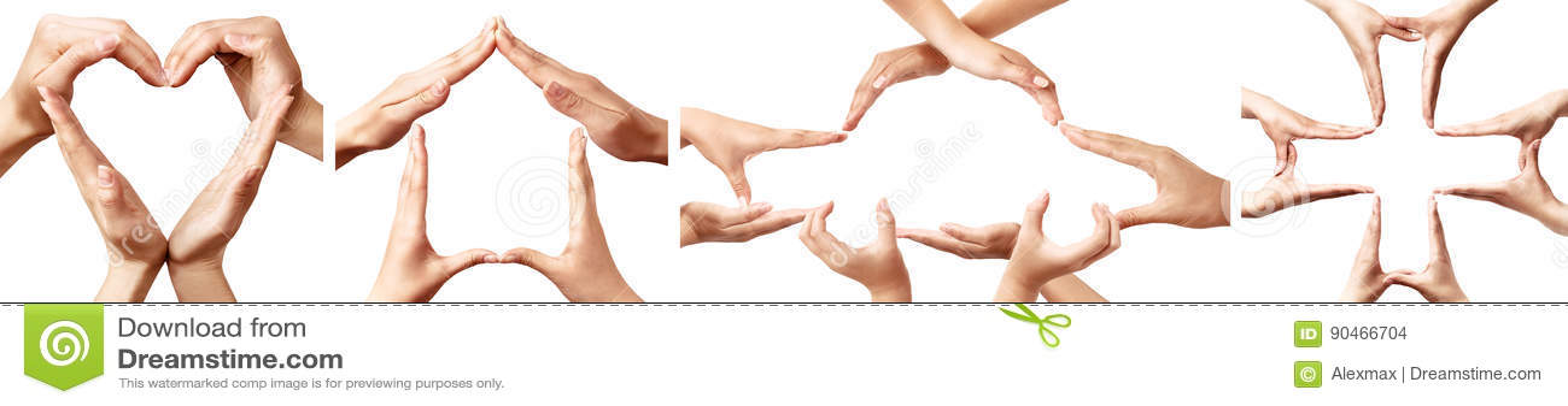 Hand Symbols Representing Concepts Of Insurance Stock Illustration
