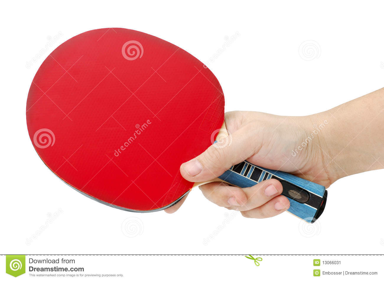 Hand and table tennis racket stock image image 13066031 for Exercice table