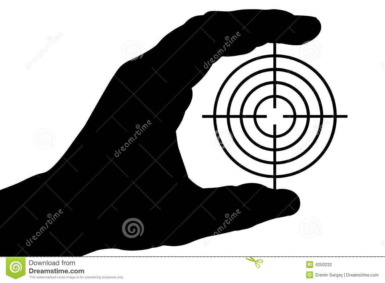 Hand with target 1