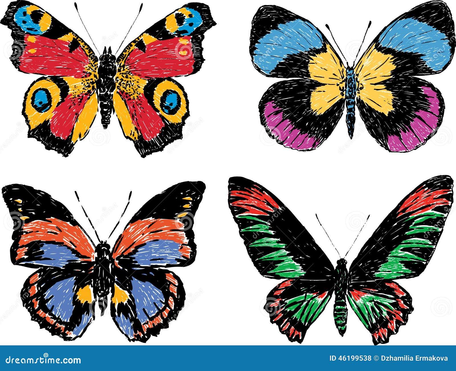 Фото нарисованные бабочки