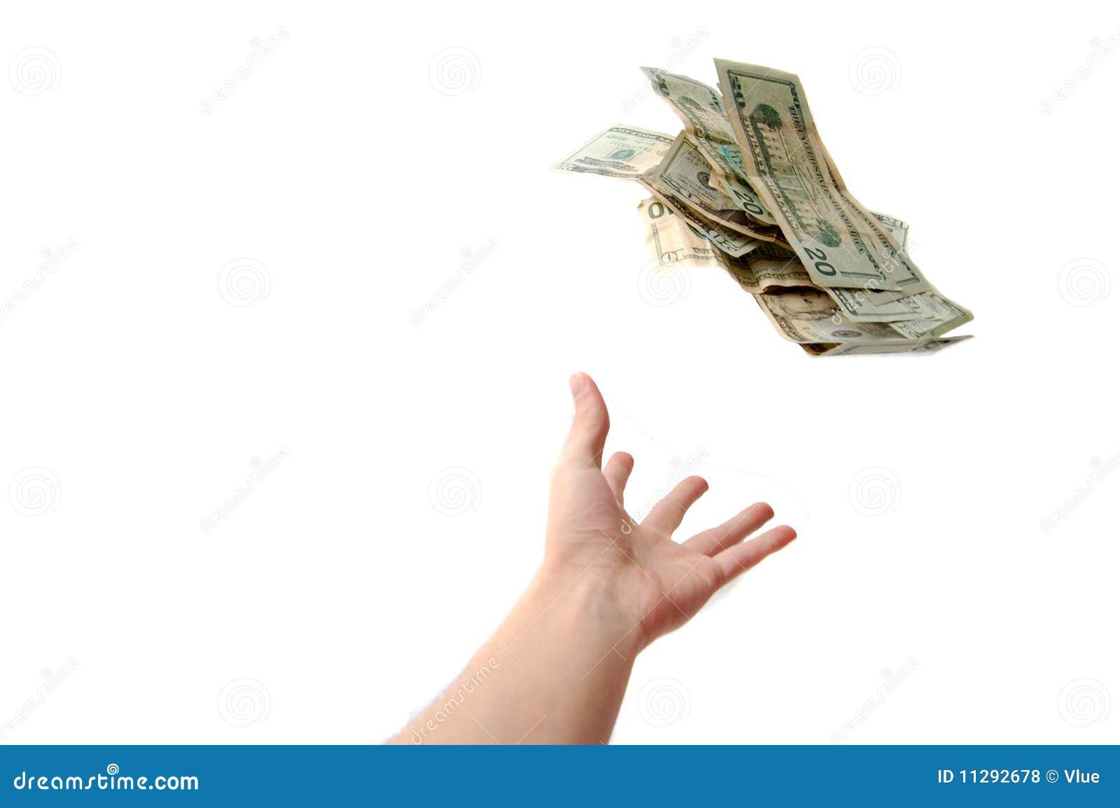 hand throwing money stock photo  image of green  money