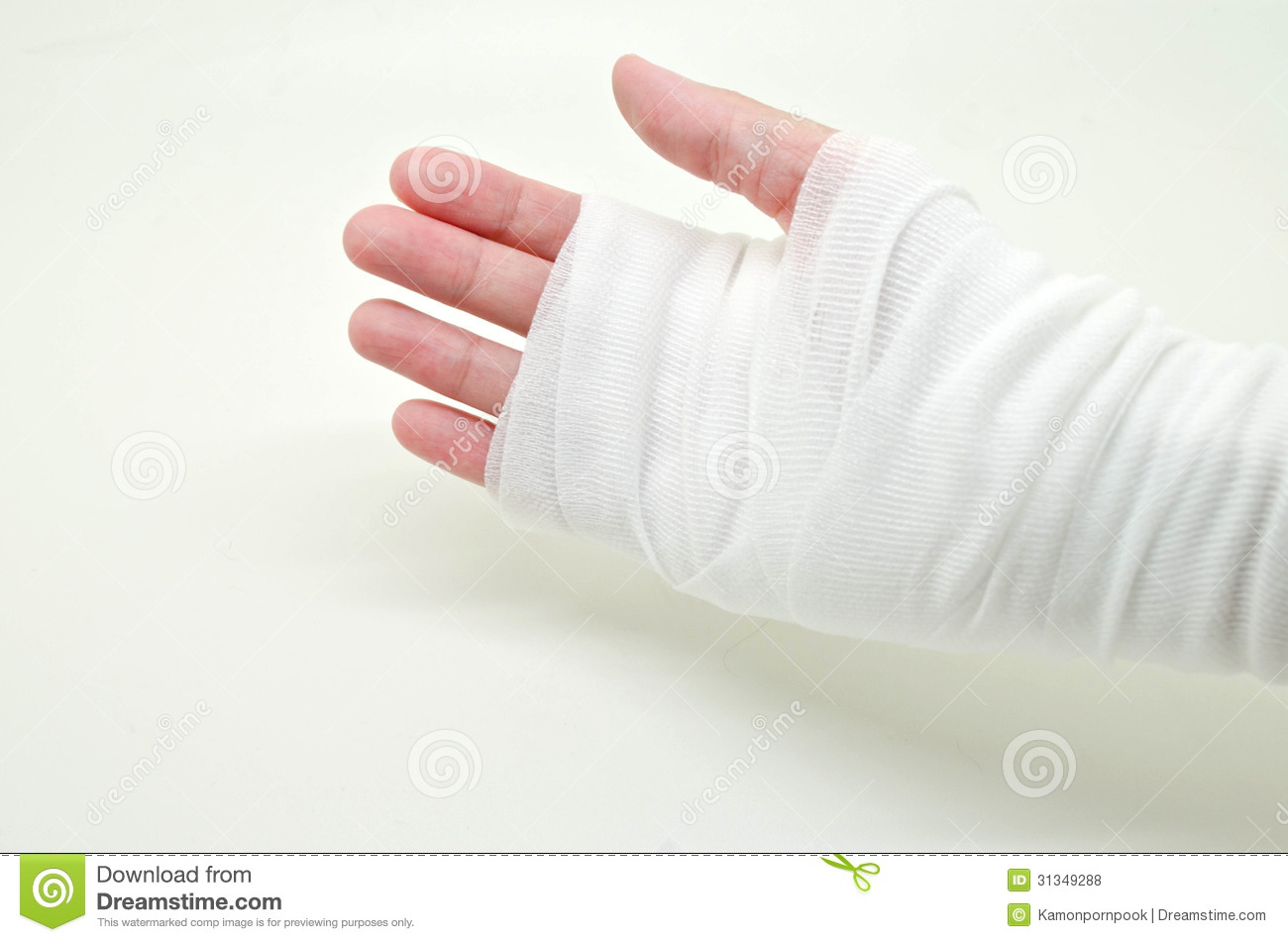 Hand Tied With Elastic Bandage Stock Photo Image Of Joint