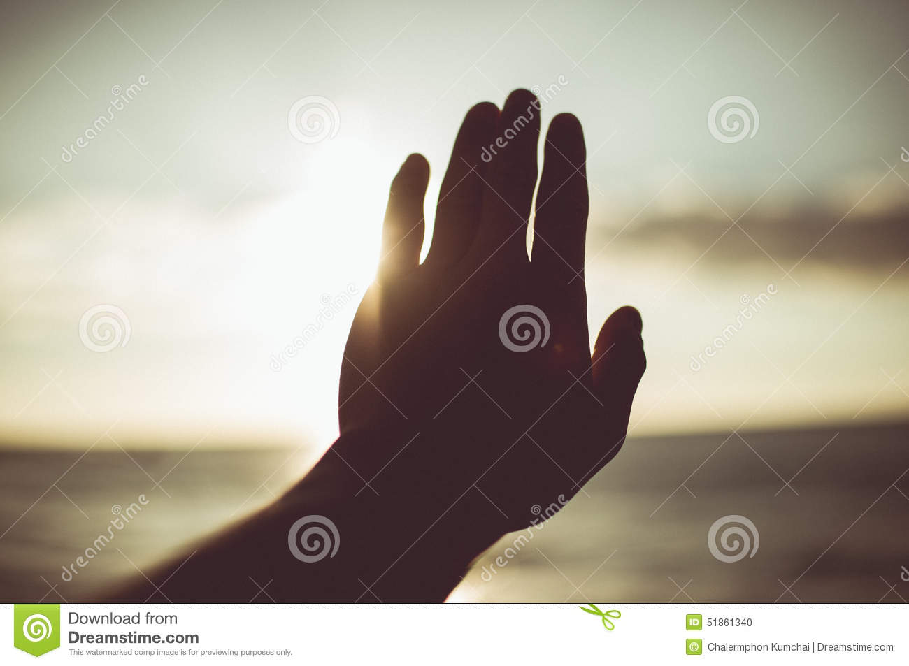 Element Of Design Tone : Hand to sun element of design vintage tone color stock photo