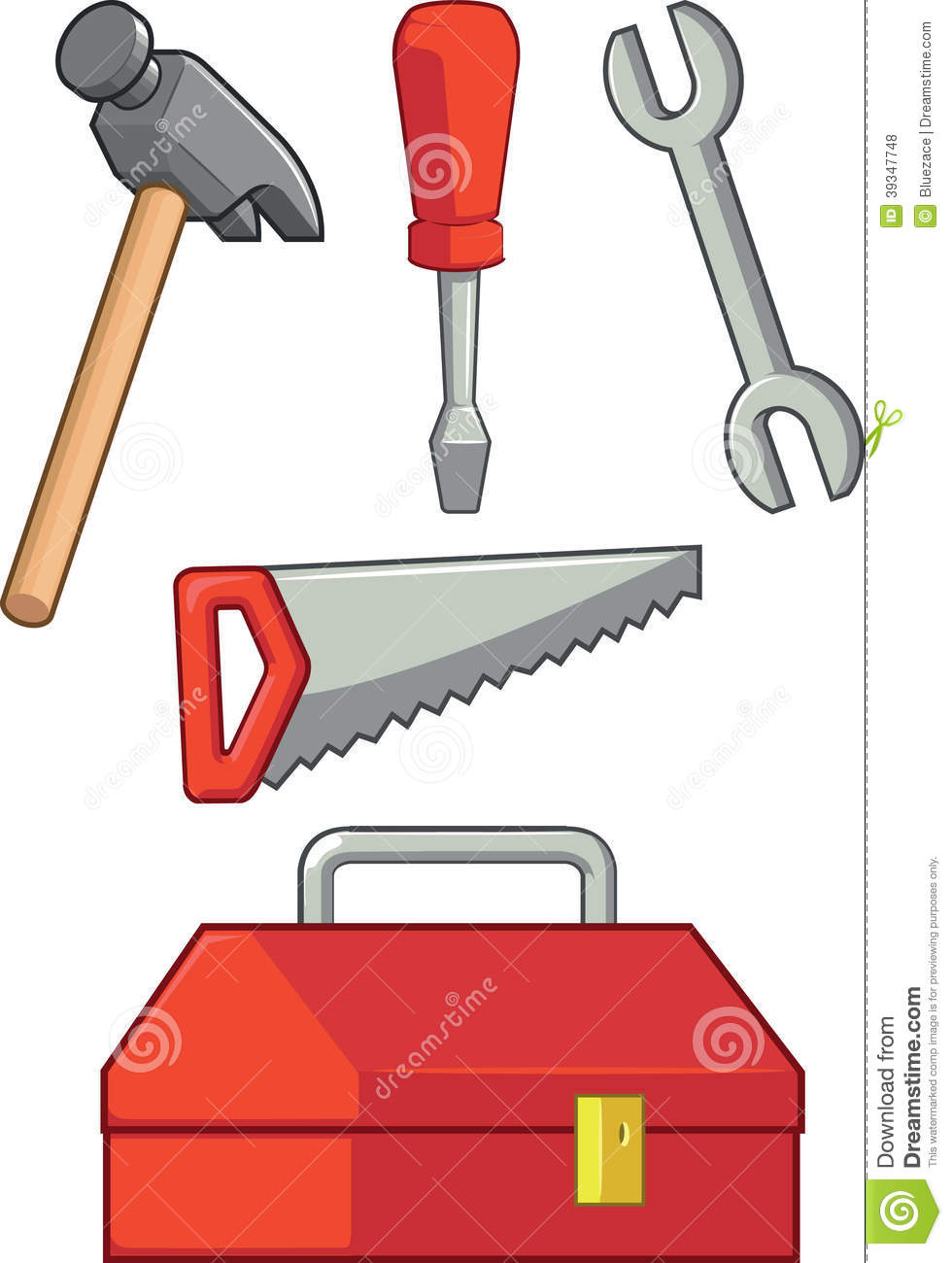 Hand Tool - Hammer, Screwdriver, Wrench, Saw & Too Stock ...