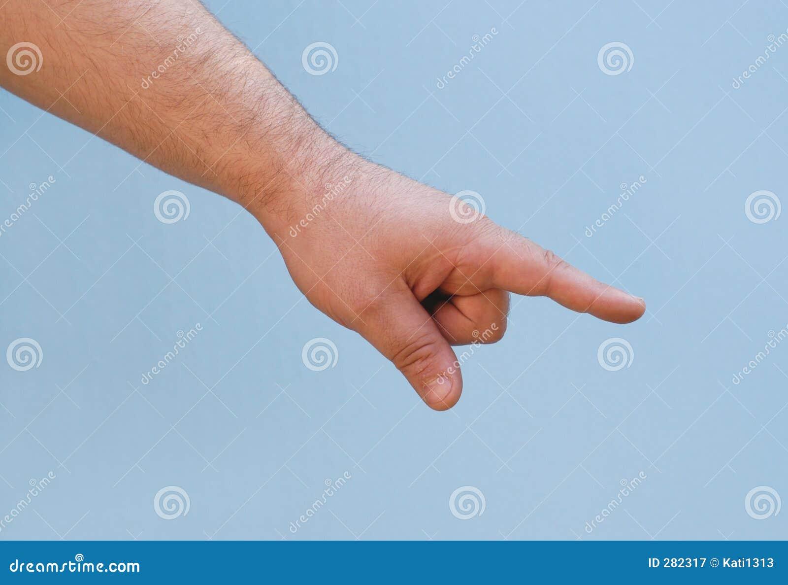 Hand: toont