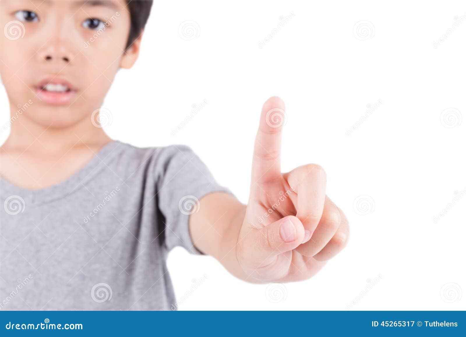 <b>Hand Touch</b> The Screen - hand-touch-screen-boy-45265317