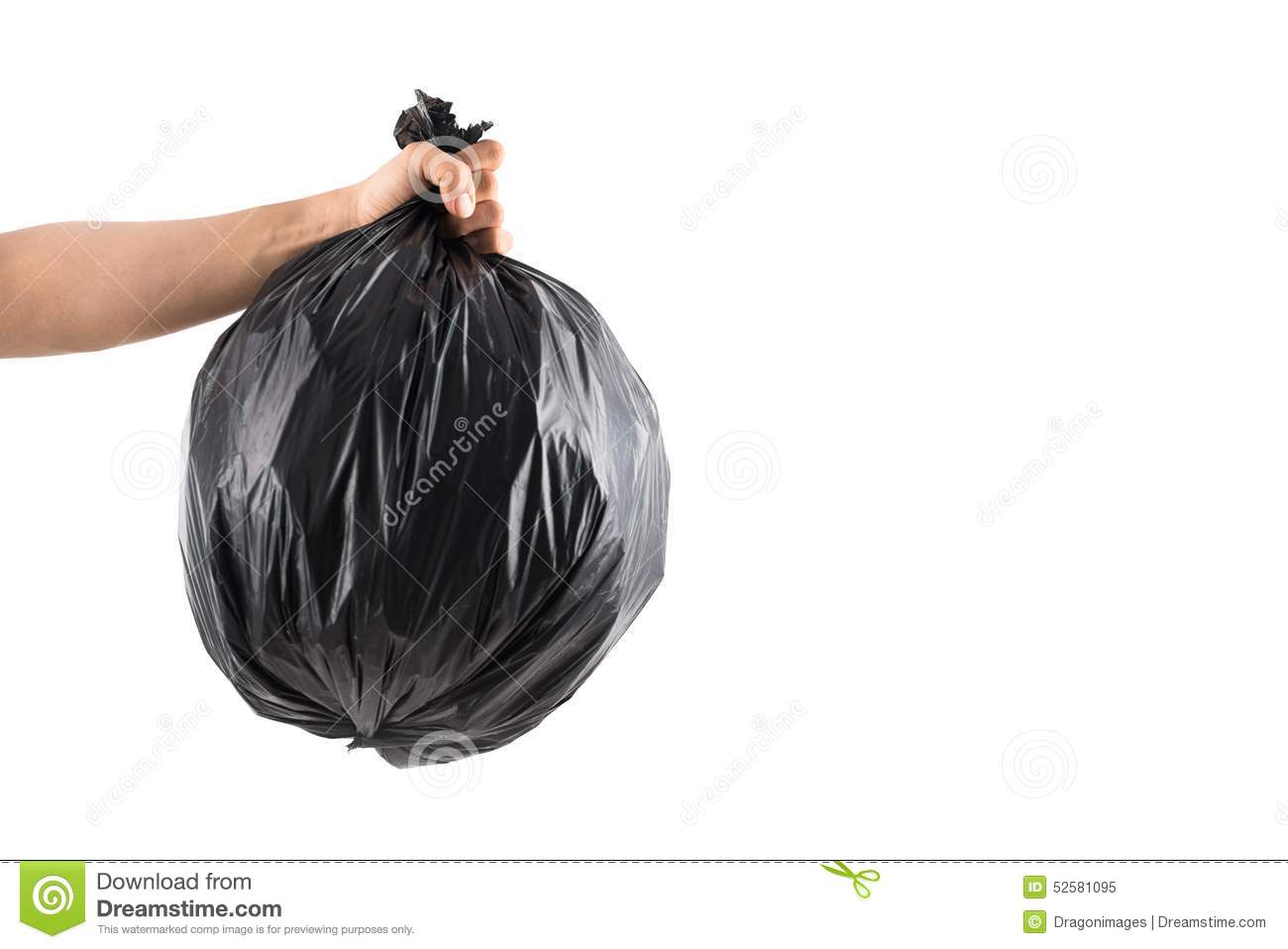 Close Up Of A Full Garbage Bags On Floor Stock Photo