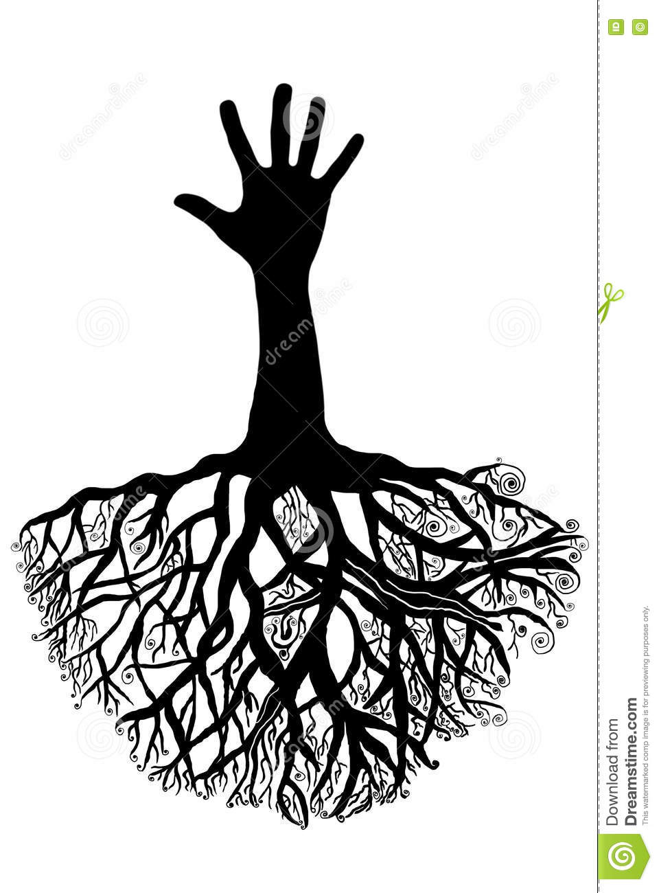 People Love Tree With Roots Cartoon Vector Cartoondealer