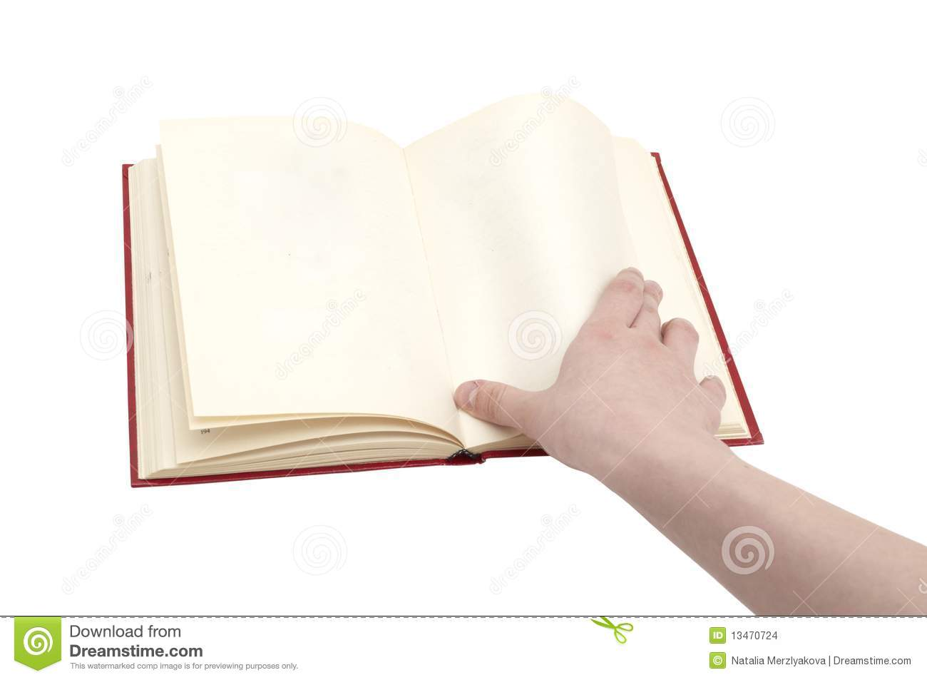 Hand Turn Over A Page