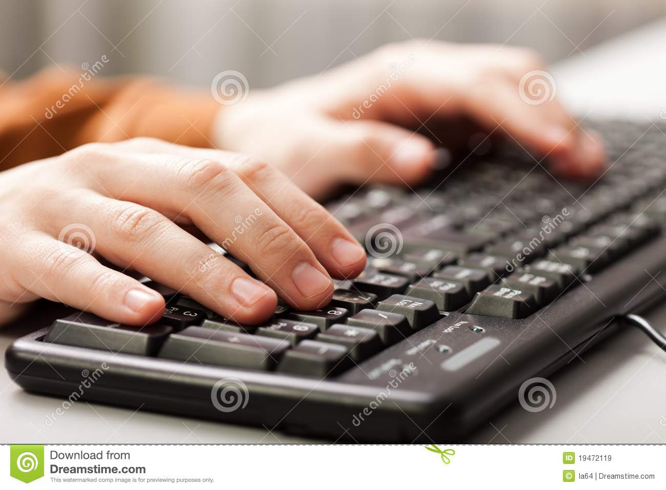 hand typing computer keyboard royalty free stock images image 19472119. Black Bedroom Furniture Sets. Home Design Ideas